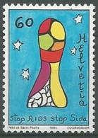 "Switzerland 1994 ""Phallus Symbol"" By Niki De Saint Phalle. Fight Against AIDS. Single. MNH. VF. - Nuevos"