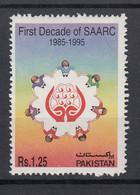 Pakistan 1995 First Decade Of SAARC. Single. MNH. VF. - Pakistan