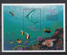 Norfolk Islands 1998 Marine Life. Fish. Shark. S/S. MNH. VF. - Norfolk Island