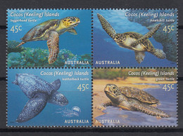 Cocos Islands 2002 Sea Turtles. Marine Life. Set. MNH. VF. - Cocos (Keeling) Islands
