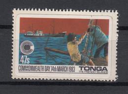 Tonga 1983 Commonwealth Day. Fishing. 1 Val. MNH. VF. - Tonga (1970-...)