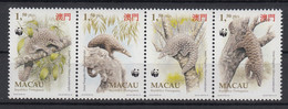 Macau 1995 Chinese Pangolin. WWF. Strip. MNH. VF. - 1999-... Sonderverwaltungszone Der China