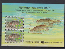 Korea 1997 Marine Life. Fish. S/S. MNH. VF. - Korea (...-1945)