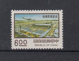 Taiwan (Rep. Of China) 1977 Nine Major Construction Projects: Taoyuan International Airport. Airplane. 1 Val. MNH. VF. - Nuovi