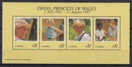 Namibia 1998 Diana, Princess Of Wales. MS. MNH. VF. - Namibia (1990- ...)