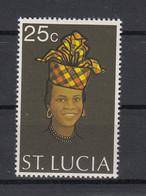 St Lucia 1973 Women Head Dresses. 1 Val. MNH. VF. - St.Lucia (1979-...)