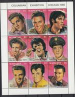 St Vincent 1992 Elvis Presley. Sheetlet Of 9. MNH. VF. - St.Vincent & Grenadines