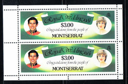Montserrat 1981 Royal Wedding. Pair. MNH. VF. - Montserrat