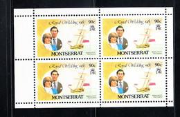 Montserrat 1981 Royal Wedding. Block Of 4. MNH. VF. - Montserrat