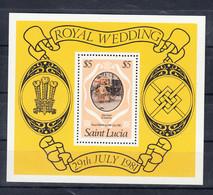 Saint Lucia 1981 Royal Wedding. S/S. MNH. VF. - St.Lucia (1979-...)