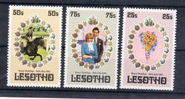 Lesotho 1981 Royal Wedding. Set. MNH. VF. - Lesotho (1966-...)