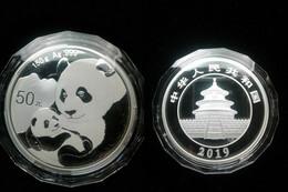 China 2019 Panda Silver Coin 50 Yuan. 150g.Ag .999. In Capsule. - China