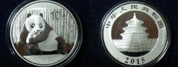 China 2015 Silver Panda Coin. 10 Yuan In Capsule. 30 G. Ag. 999. - China