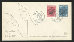 Norway 1960 World Refugees Year. Illustration By Jean Cocteau. FDC. - FDC