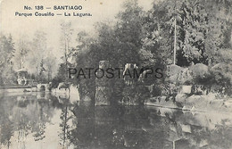 143113 CHILE SANTIAGO PARQUE COUSIÑO LA LAGUNA POSTAL POSTCARD - Chile