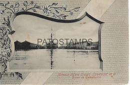 143115 CHILE DIQUE DE TALCAHUANO SHIP ARMADA CRUCERO ESMERALADA POSTAL POSTCARD - Chili