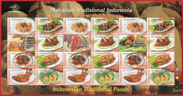 Indonesia 2010, FS Indonesia Traditional Foods. MNH - Indonesia