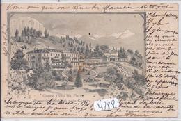 GE- MONNETIER- LE GRAND HOTEL DU PARC- AU PIED DU SALEVE- LITHO - GE Genève