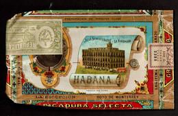 Ancien Paquet De Tabac - Vide - LA ESCEPCION / De José Gener Habana Cuba - 2 Scans - Empty Tobacco Boxes