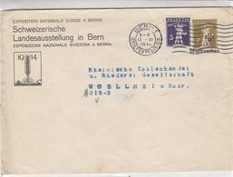 Ganzsachen-Brief Aus BERN 11.11.14 An Die Rheinische Kohlenhandel Rhederei Gesellschaft In MÜLHEIM (Ruhr) - Briefe U. Dokumente