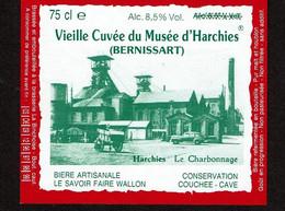 Etiquette Bière BRASSERIE LA BINCHOISE - Vieille Cuvée Du Musée D'Harchies Bernissart / Charbonnage - Voir Scan - Bier