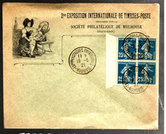 37201 - Semeuse  25 C Bleu En Bloc De  4 - 1921-1960: Modern Period