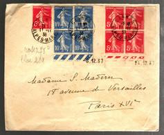 37210 - Semeuse  X 2 Bloc De  4 CDF Datés - 1921-1960: Modern Period