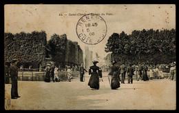 CPA HAUTS DE SEINE SAINT CLOUD N°44 ENTREE DU PARC TRES ANIMEE1908 ROYER NANCY - Saint Cloud
