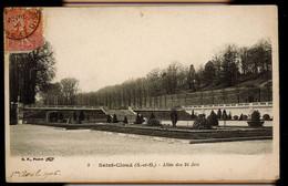 CPA HAUTS DE SEINE SAINT CLOUD N°3 ALLEE DES 24 JETS 1906 B.F. PARIS - Saint Cloud