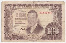 Spain P 145 - 100 Pesetas 7.4.1953 - Fine - [ 3] 1936-1975: Regime Van Franco