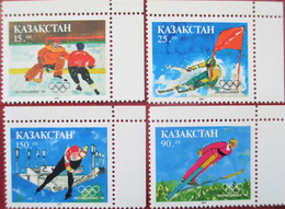 Kazakhstan  1993 Olympic Games  Lillehammer   1994  4 V  MNH - Winter 1994: Lillehammer