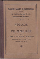 Schlumberger & Cie, Guebwiller, Haut-Rhin. Réglage De La Peigneuse Pour Laine-Etoupes-Schappe. Modèles P.AL., Etc - Bricolage / Técnico