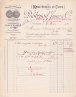 1914 FACTURE DESBENOIT JEUNE - MANUFACTURE DE CUIRS  VEAUX BLANC EXPOSITION UNIVERSELLE PARIS 1889 - Frankreich