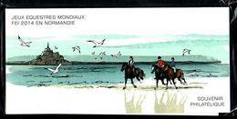 Bloc Souvenir N° 97 - Jeux Equestres Mondiaux Normandie - Neuf Sous Blister - Souvenir Blocks & Sheetlets