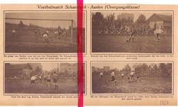 Orig. Knipsel Coupure Tijdschrift Magazine - Voetbal Match Schaarbeek - Arlon  - 1927 - Old Paper