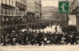 CPA Paris 2e - Une Manifestation, Rue De La Paix (53635) - Manifestazioni
