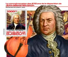 Djibouti 2020  Johann Sebastian Bach     S202007 - Djibouti (1977-...)