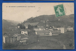 St-VINCENT-de-REINS    Les Filatures   écrite En 1909 - Other Municipalities