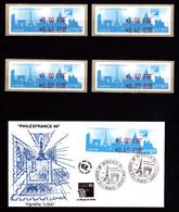 Vignettes D'affranchissement - Lot De 4 Neuves + 1 Enveloppe Philexfrance 1999 - Très Beaux. - Unclassified