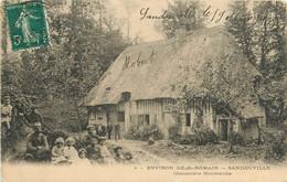 76 SANDOUVILLE - CHAUMIERE NORMANDE - Autres Communes