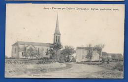 FRAYSSE Par LAFORGE    Eglise,Presbytère ,ecole      écrite En 1912 - Other Municipalities