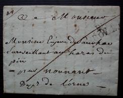 Rodez 1824, Marque De Port Payé Pour Le Haras Du Péré Dans L'Orne - 1801-1848: Precursori XIX