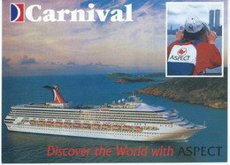 Ship - Carnival - Discover The World Wich Aspect - ( Travel Agency ) - Ferries