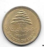 *lebanon 5 Piastres 1969  Km 25.1 Bu/ms65 - Libano