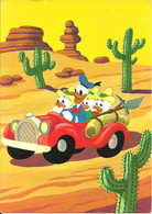 Walt Disney, Scenetta Umoristica, Paperino E Qui, Quo, Qua In Auto In Mezzo Al Deserto - Non Classificati