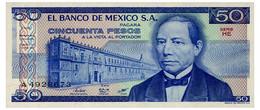 MEXICO 50 PESOS 1981 Pick 73 Unc - Mexiko