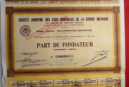 S. A. DES EAUX MINERALES DE LA SOURCE MAYNARD ( Bourbonne-les-Bains ) - Water