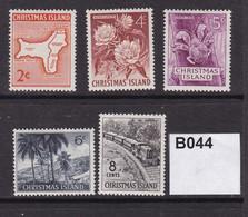 Christmas Island 1963 5 Values To 8c (MM) - Christmas Island