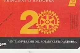 ROTARY CLUB D ANDORRE  LUXE 1998 AND88 - Telefoonkaarten