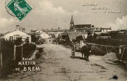 St Martin De Brem * Village * Attelage âne * 1906 - Sonstige Gemeinden